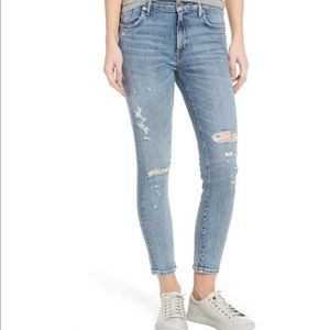 AGOLDE Medium Wash Distressed Skinny Jeans